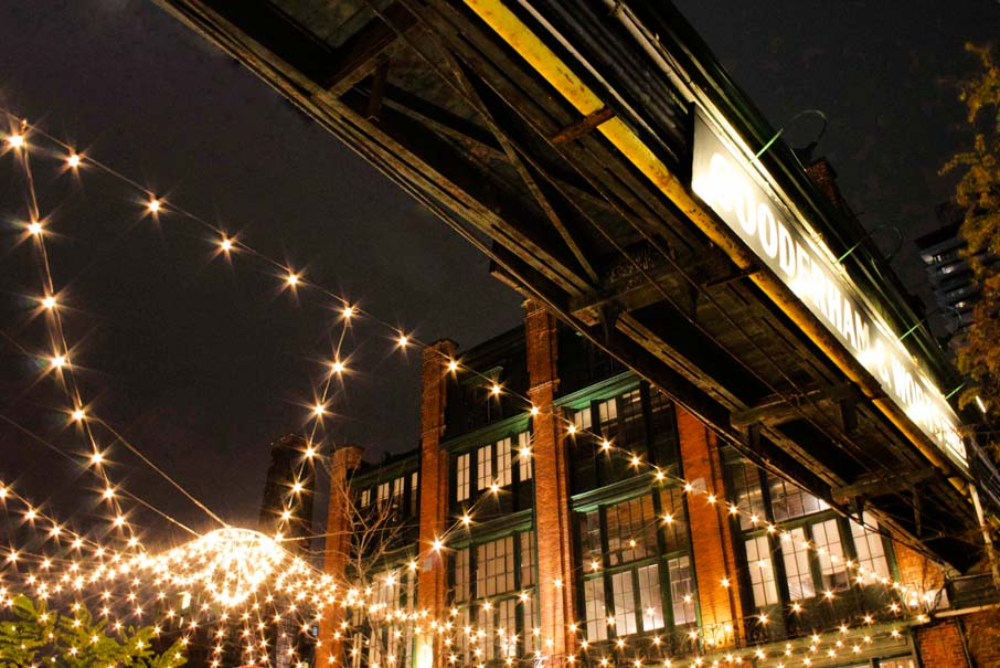 Festive-lights-strung-overhead-at-Toronto-Christmas-Market-in-the-Distillery-district
