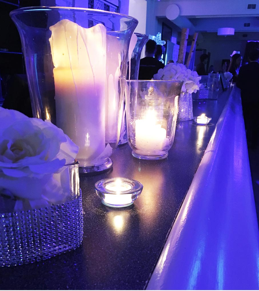 Grand-Winter-Ball-candle-mood-lighting-on-bar
