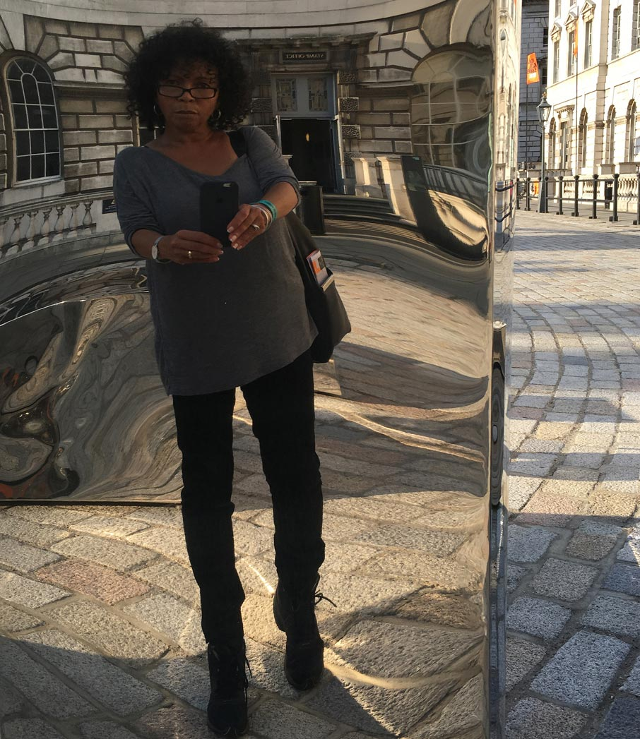 London-Design-Festival-checking-out-twisted-mirror