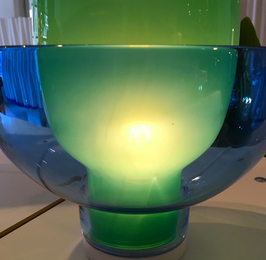 London-Design-Festival-closeup-of-large-green-blue-glass-bowl-lighting