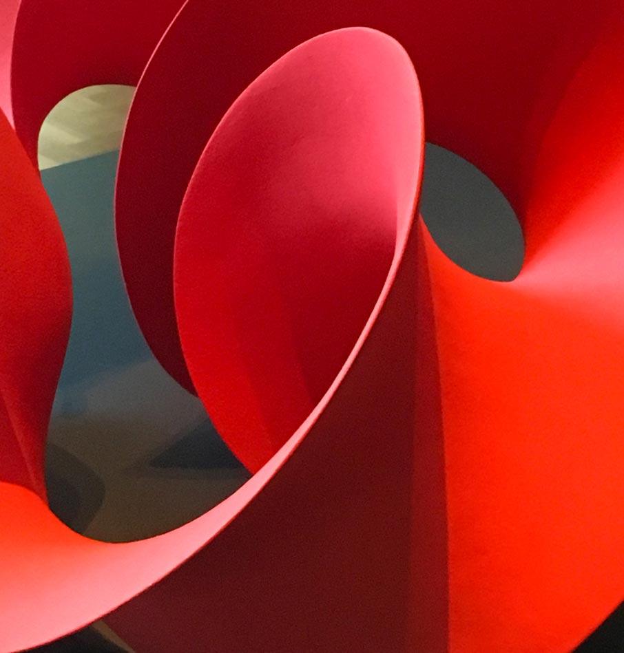 London-Design-Festival-red-sculpture-organic-form