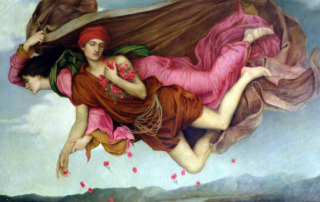 Night and Sleep painting of Nyx and Hypnos by Evelyn de Morgan (1878) Courtesy Wikimedia