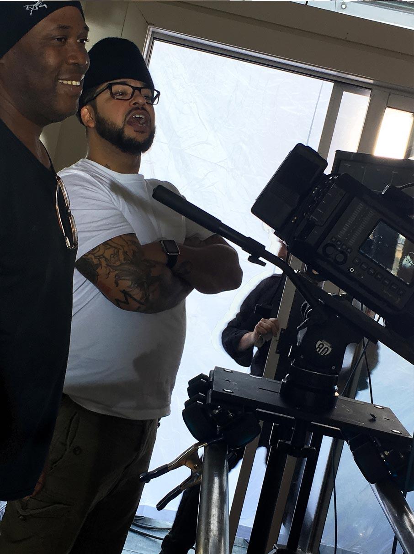 PeterJohn-and-Marlon-directing-actors-for-videoshoot