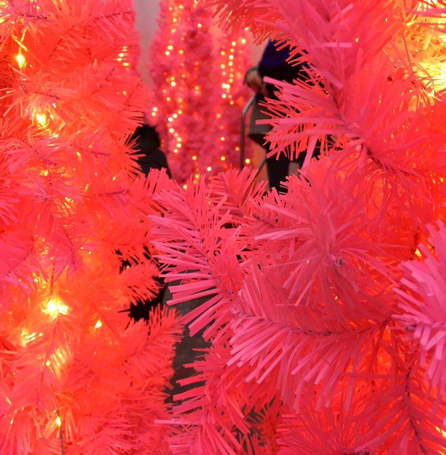 Pink-Christmas-tree-branches-at-Toronto-Christmas-Market