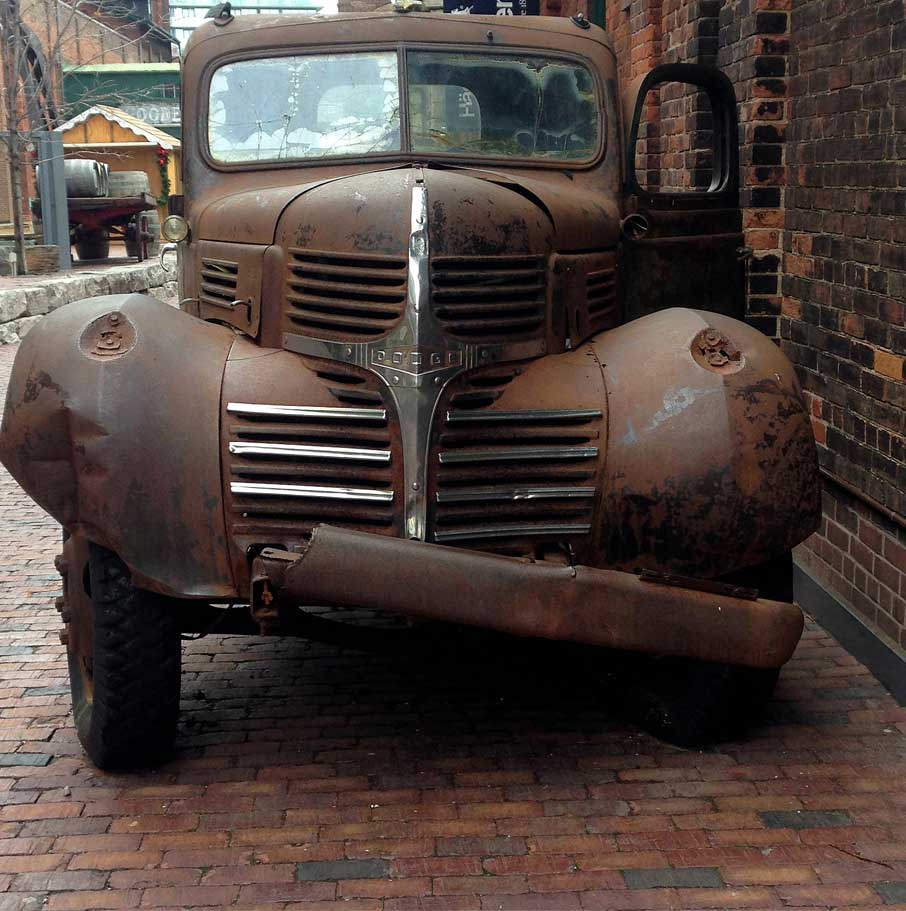 Toronto-distillery-old-rusted-truck