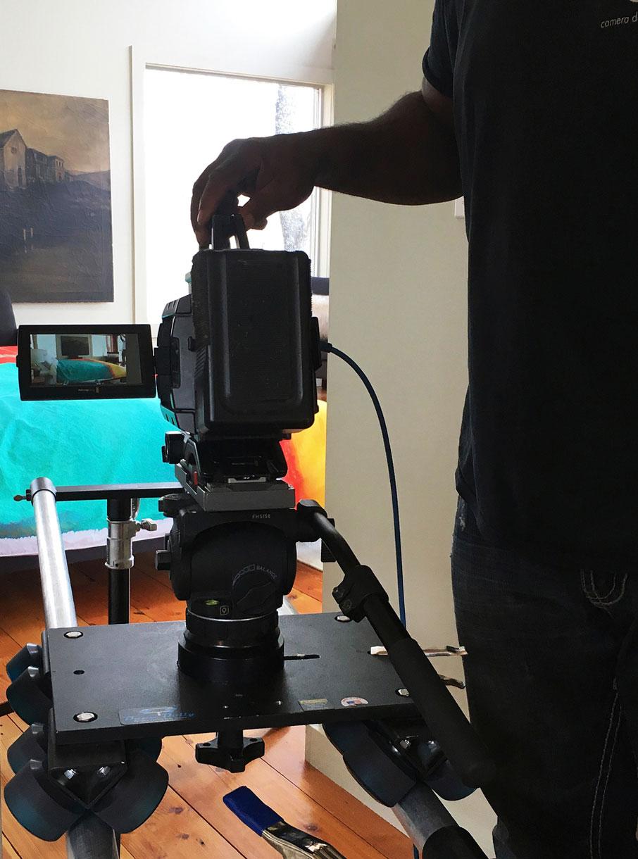 Videocamera-set-up-for-moving-zoom-shots