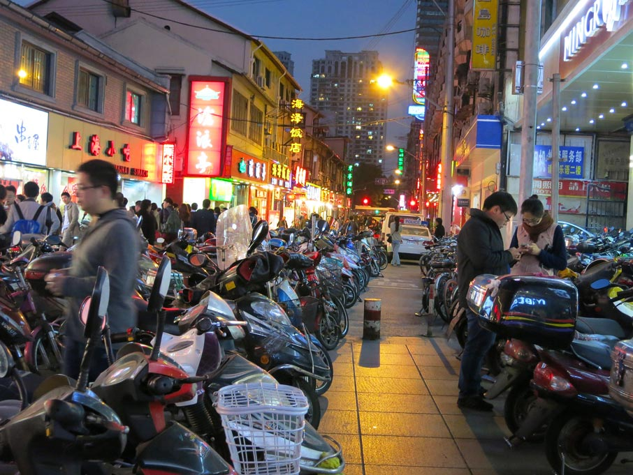 ZZ-B-Shanghai-busy-lane-with-many-parked-motorcycles