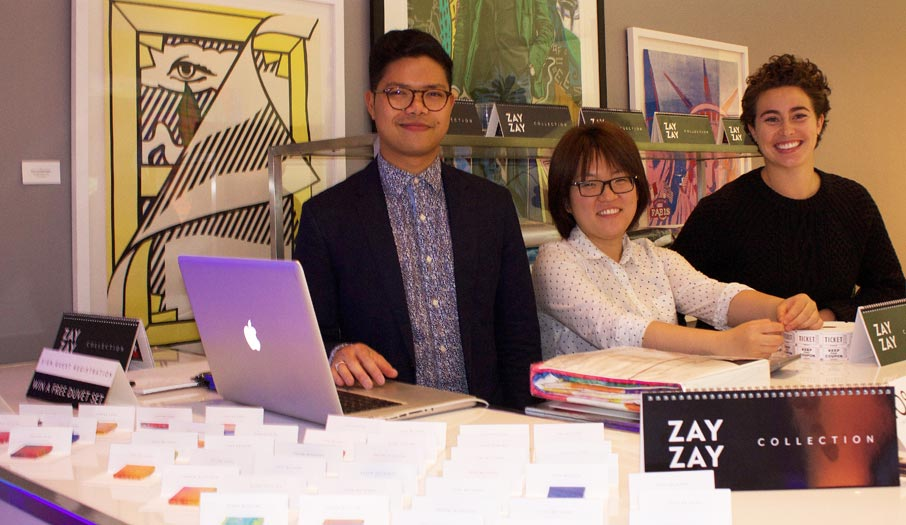 ZZ-B-welcome-to-ZayZay-launch-party-front-desk-greeters