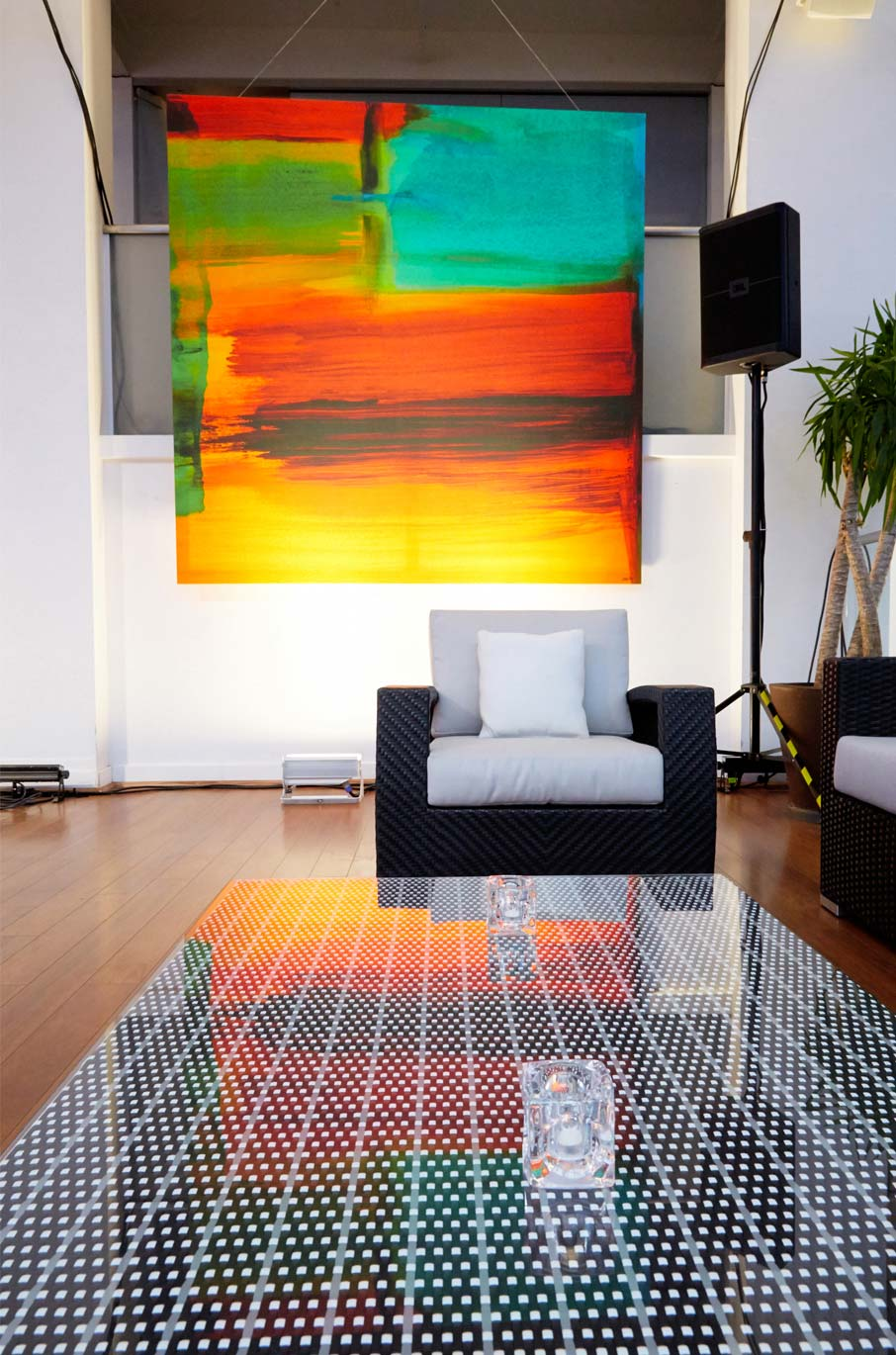 ZayZay-African-Sunset-duvet-cover-as-art-hanging-on-wall