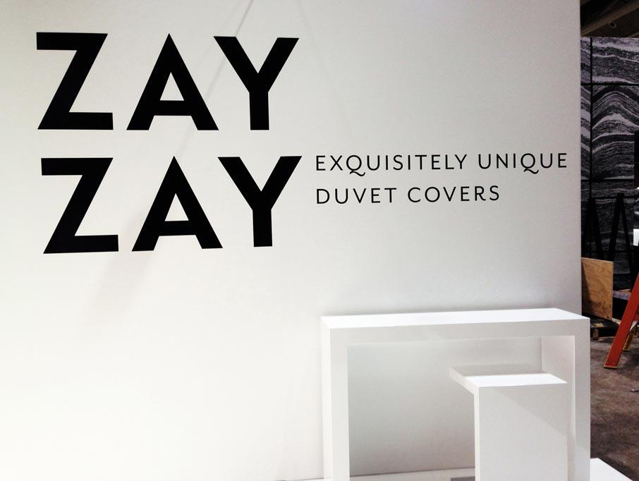 ZayZay-Exquisitly-Unique-Duvet-Covers-signage-at-IDS-2016