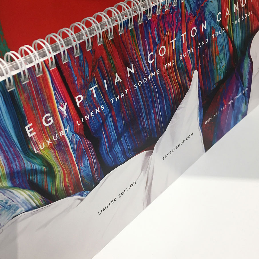 ZayZay-catalogue-Egyptian-Cotton-Candy-page-on-display-at-High-Point-Market