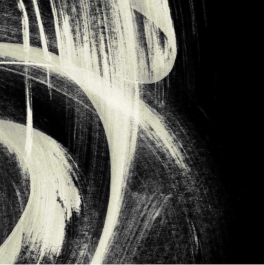 White-brushstrokes-on-black-cotton-detail-Realm-of-Rorshach-duvet-cover-design