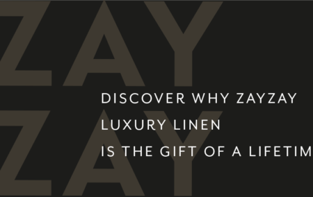 ZayZay logo with heading discover why ZayZay Luxury Linen is the gift of a lifetime