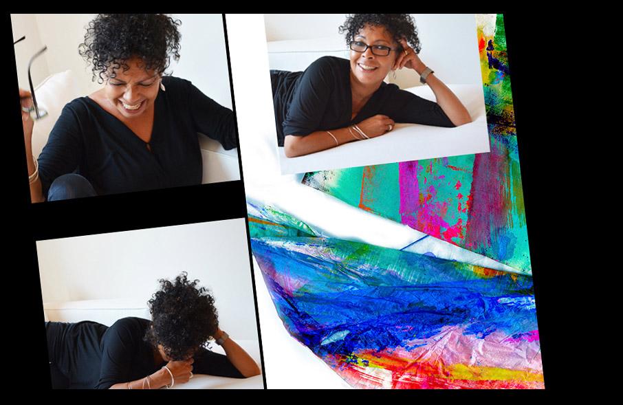 ZayZay-founder-Sharon-Lockwood-with-Baduvet-painting-in-background