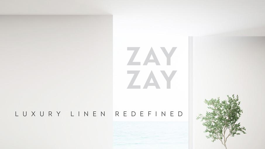 ZayZay Luxury Linen Redefined on wall