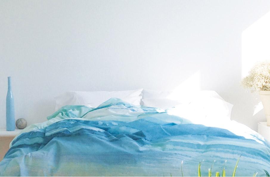 ZayZay paradisus duvet cover on bed in bright room