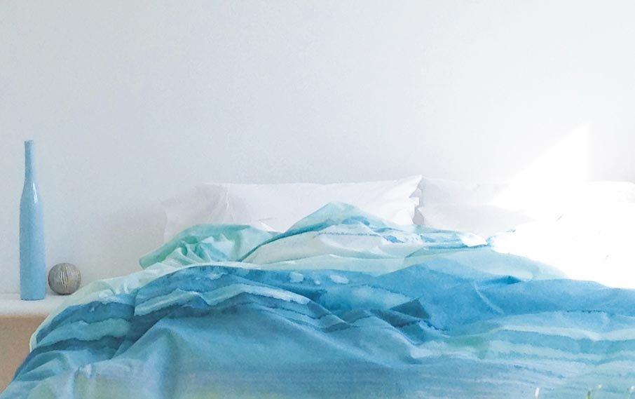 ZayZay Living duvet cover Paradisus like blue ocean on bed